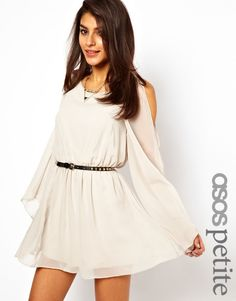$40 Exclusive Cape Sleeve Dress with Studded Belt - Lyst