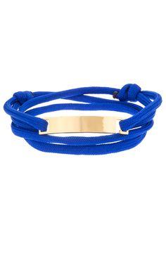 Mister Script Bracelet - Blue & Gold