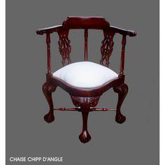Fauteuil de style d'angle acajou http://www.deco-prive.com/meuble-de-style-acajou-/2334-fauteuil-de-style-d-angle-acajou.html #decoprivé #décoration #maison