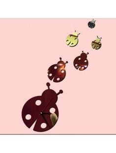 Spiegelklebe-Wanduhr für Kinder - Ladybird Artikel-Nr.:  IA-013-S Wanduhr  Zustand:  Neuer Artikel  Verfügbarkeit:  Auf Lager  Klebstoff-Wanduhr Ihr Zuhause zu beleben. Stunden unseres Angebots prallt perfekt jede Wand und Interieur. Diese Stunden bitte alle. Mehr überfällig für Sie! 3d, Vintage, Modern Mirrors, Stylish Watches, Adhesive, Pointers, You're Welcome, Things To Do, Painting Art