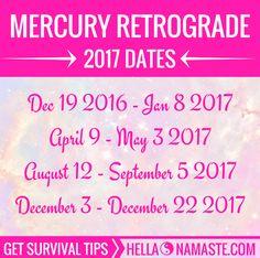 Mercury Retrograde 2017 dates + survival tips