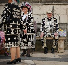 Cockney Pearly King and Queen