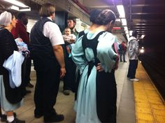 "giuliarozzi: "" I just saw an Amish family on the subway. """