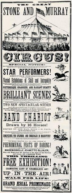 Circus poster - 1870