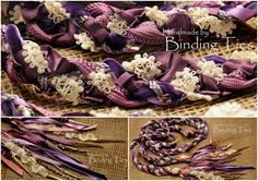 Handfasting cord in purple lavender dusky pink and ivory, perfect for vintage style and rustic chic style weddings, by BindingTies, £85.00