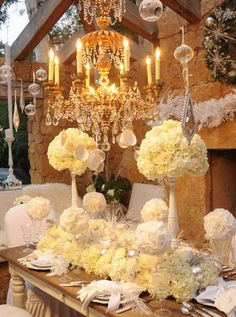 chandelier and #flowers