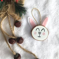 Items similar to Custom Bunny wood slice art. Bunny Childrens Ornament on Etsy Wood Projects For Kids, Barn Wood Projects, Kids Wood, Art Projects, Rustic Christmas Ornaments, Christmas Crafts, Old Wood Table, Wood Slice Crafts, Trendy Tree