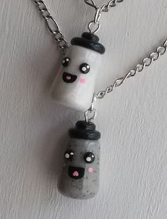 Salt and Pepper Best Friend Necklace Set by iCandyPetiteTreats