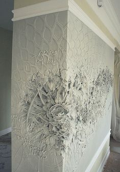 Intricate Bas-Relief Sculpture Resembles Intricate Impressionist Paintings - Artist Brings Rooms to Life With Impressionist-Inspired Relief Sculptures on Walls Decorative Plaster, Plaster Art, Plaster Walls, Wall Treatments, 3d Wall, Wall Art, Wall Sculptures, Textured Walls, Wall Murals