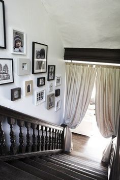 Handrail and spindles against the wall.  If you have the room a nice touch!