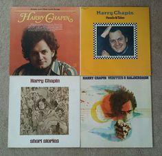 Harry Chapin 4 LP Lot ~ Heads & Tales, Verities & Balderdash, Short Stories,...