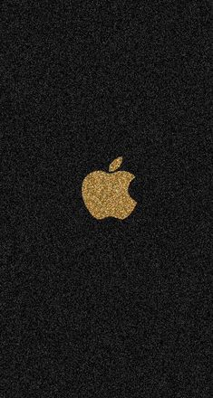 Gold glitter apple
