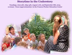 Stories come alive in The Edith J. Carrier Arboretum! Enjoy an animated reading from our children's literature selections. Our next reading will be Tuesday June 9th. For more information visit jmu.edu/arboretum