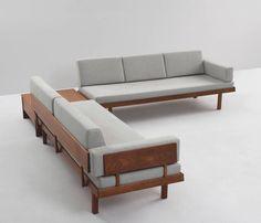 Danish Living Room Set in Teak and Fabric Upholstery 2