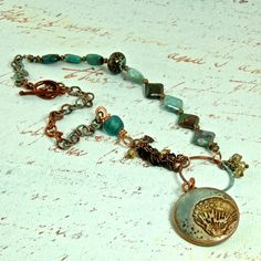 The Sea Ocean Inspired Mixed Media Artisan OOAK by enlalumiere