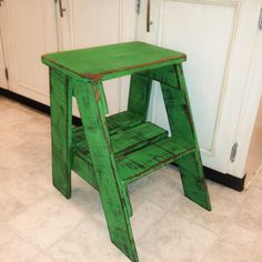 Rustic Wood Step Stool Shabby Chic Furniture / Bedroom Side Table / Cottage Farmhouse / Bohemian Decor / Green Blue Teal gray step by RiversideStudioON on Etsy https://www.etsy.com/ca/listing/507143802/rustic-wood-step-stool-shabby-chic #shabbychicbedroomsblue