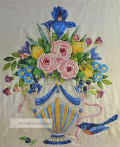 sandra leichner applique stitch | Sandra Leichner gorgeous applique