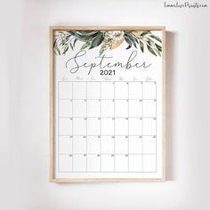 Printable Wall Calendar 2021 Watercolor Calendar 2021 | Etsy Printable Planner, Printables, Feather Wall Art, Wall Calendars, Refillable Planner, Copy Print, Christian Wall Art, Calendar 2020, Floral Wall