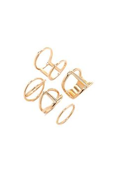 Caged Cutout Ring Set | Forever 21 - 1000168699