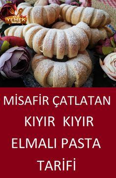 Elmalı Pasta Tarifi – Kurabiye – The Most Practical and Easy Recipes Turkish Delight, Waffles, Deserts, Food And Drink, Pumpkin, Tasty, Cheese, Cookies, Vegetables