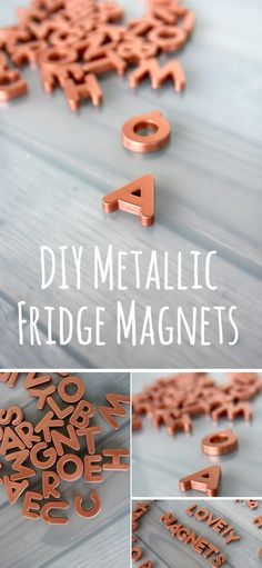 Copper Fridge Magnets / You can add just a little bit of copper to your home decor without changing much.  Try to incorporate very small accents and make these copper fridge magnets.