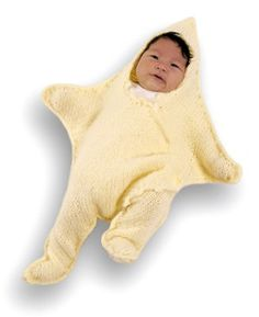 Knitted Dancing Star Baby Bunting Pattern (Knit)