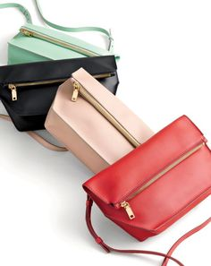 J.Crew women's Bennett crossbody bags. To pre-order, call 800 261 7422 or email verypersonalstylist@jcrew.com.