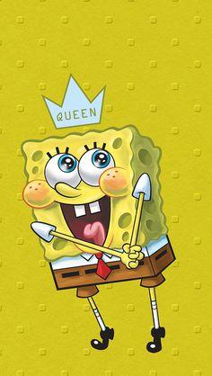 Spangbob💛 Cute Wallpaper Backgrounds, Wallpaper Iphone Cute, Cute Cartoon Wallpapers, Aesthetic Iphone Wallpaper, Disney Wallpaper, Screen Wallpaper, Spongebob Iphone Wallpaper, Rick And Morty Poster, Music Drawings