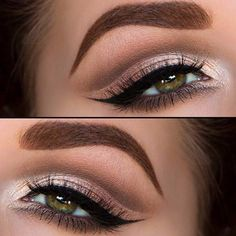 Cut Crease Makeup Look for Green Eyes