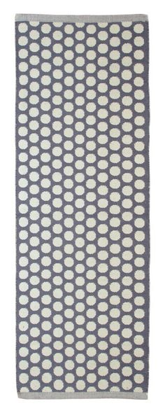 With this long, grey rug by Aspegren your home immediately gets a new cheerful flair. The high-quality rug is very durable, carefully produced in Grey And White, Gray, Grey Rugs, Danish Design, Rug Runner, Denmark, Runners, Dots, India