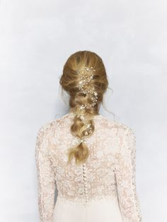 Embellished wedding braid to look elegant on the big day