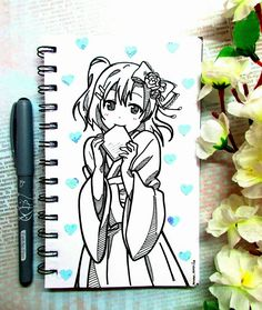 #drawing #anime #cute #notebook #lovelive