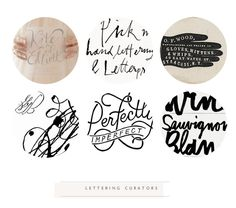handwritten feel of text.PINTEREST LETTERING CURATORS