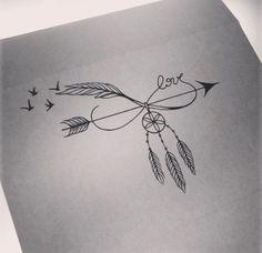 Arrow/ Infinite/ Dream Catcher/ Bird Tattoo