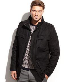 MICHAEL Michael Kors Jacket, Breckenridge Wool-Blend Field Coat ...