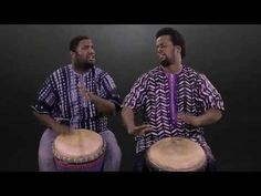 Djembe patterns for beginners - Patterns 1 to 6 - YouTube
