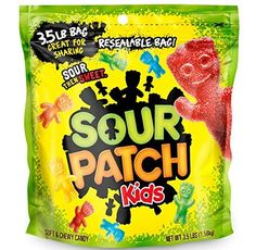 Sour Patch Kids Sweet and Sour Gummy Candy (Original, Pound Bag) Sour Patches, Sour Patch Kids, Candy Buffet Tables, Vegan Candies, Chewy Candy, Sour Candy, Black Sesame Ice Cream, Pumpkin Spice Cupcakes, Cinnamon Cream Cheeses