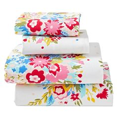 Shop Floral Flannel Sheet Set.  Ready to sleep on a bed of flowers? The printed blooms on this floral flannel bedding set are enough to freshen up any kids bed.  Made of 100% cotton for extra comfort, it's the perfect floral touch to any kids' bedroom.