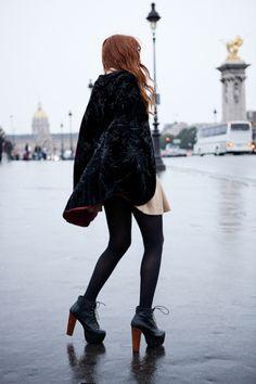 Trending . I Dream of Velvet . Holiday 13 . Velvet Coat . High Heels