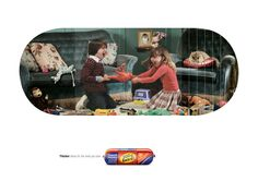 Print advertisement created by TBWA, South Africa for Enterprise, within the category: Food. Creative Advertising, Print Advertising, Advertising Agency, Print Ads, Ad Of The World, South Africa, Fighting Kids, Cards, Hunts