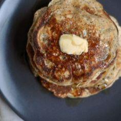 Whole Wheat Almond-Poppy Seed pancakes