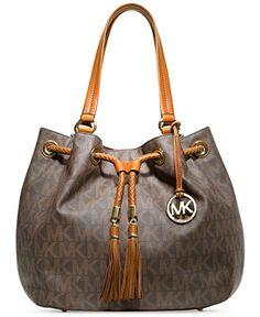 MICHAEL Michael Kors Jet Set Item Large Signature Tote - Handbags  amp   Accessories - Macy s c280aff8cdba7