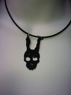 Frank Donnie Darko  leather necklace by FloranceandLeah on Etsy