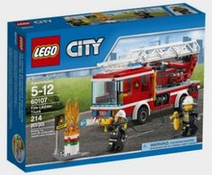 To the Rescue With the LEGO City fire ladder truck set, kids can race to the scene and save the day. Extend the truck's ladder to reach high-rise . Lego City Fire, Lego Fire, Truck Fire, Fire Trucks, Toys R Us, Toys For Boys, Kids Toys, Trucks Only, New Trucks