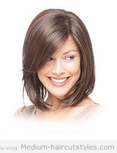 medium-length angled bob haircut pictures