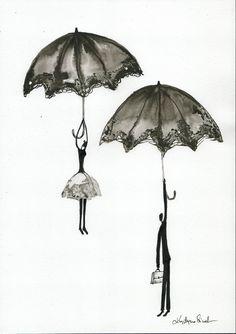 Abstrakcja deszczowa ulica ręcznie malowany obraz kobieta z | Etsy Rain Street, Rainy Days, Art Inspo, Art For Kids, Etsy, Abstract, Drawings, Illustration, Pictures