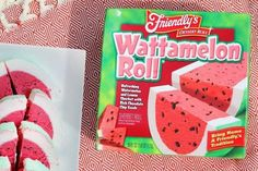 Friendly's Wattamelon Roll, an ice cream cake made in the likeness of a watermelon, is summer's best dessert, hands down. Friendly's Ice Cream, Watermelon And Lemon, How To Make Cake, Paradise, Chips, Rolls, Bread, Fruit, Desserts