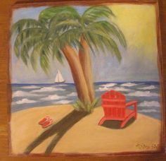 Costa Rica Highs Original Seascape Oil Painting of Costa Rica