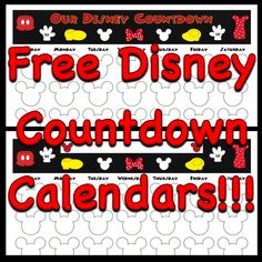 free printable countdown calendars to use for your next disney trip