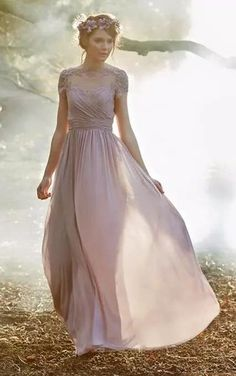 6595f5472f7d Shop affordable A-line Jewel Cap Short Sleeve Floor-length Chiffon  Bridesmaid Dress with Appliques and Ruching at June Bridals! Over 8000 Chic  wedding